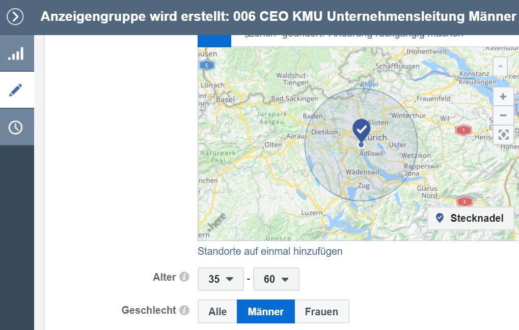 Facebook B2B Marketing Zürich