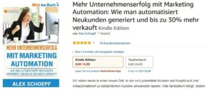 Marketing Automation-Buch auf Amazon und BoD