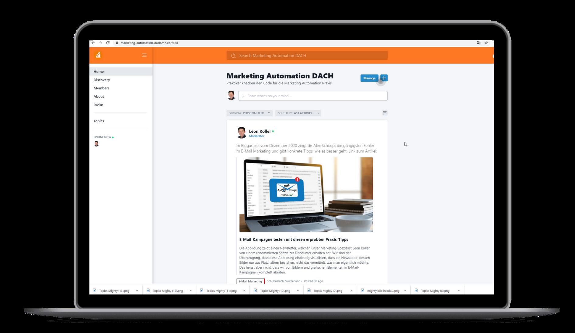 Marketing Automation Dach Community Ansicht Desktop