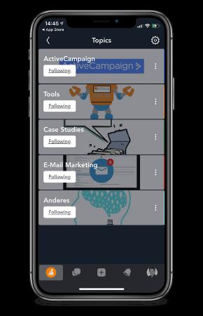 Marketing Automation Community Mobile
