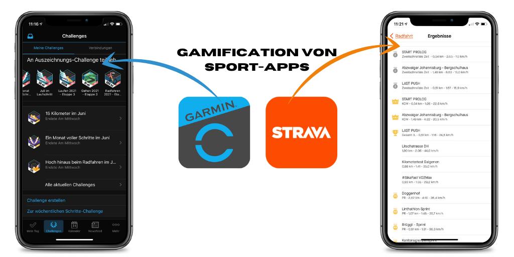 Gamification von Garmin Connect und Strava